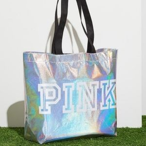 NWT VS PINK Reusable Totes 5 Total